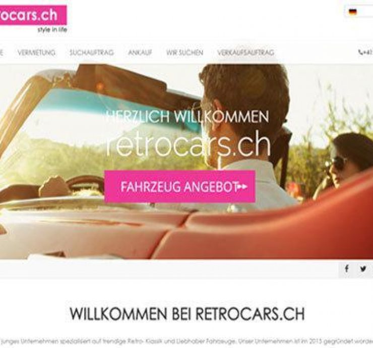 retrocars webdesign
